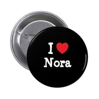 Amo la camiseta del corazón de Nora Pins