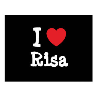 Amo la camiseta del corazón de Risa Tarjetas Postales