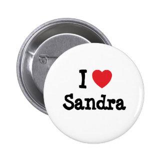 Amo la camiseta del corazón de Sandra Pins