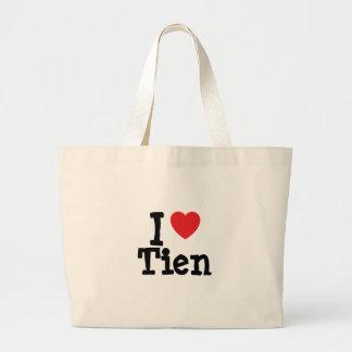 Amo la camiseta del corazón de Tien Bolsa De Mano
