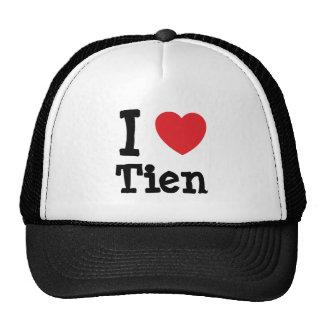 Amo la camiseta del corazón de Tien Gorros Bordados