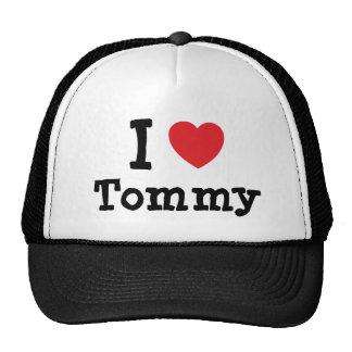 Amo la camiseta del corazón de Tommy Gorras