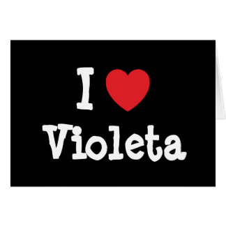 Amo la camiseta del corazón de Violeta Tarjetón