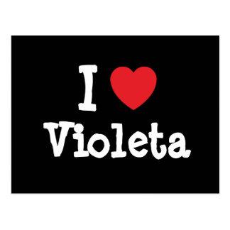 Amo la camiseta del corazón de Violeta Postales