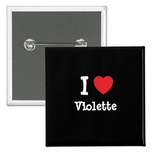 Amo la camiseta del corazón de Violette Pin