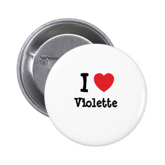Amo la camiseta del corazón de Violette Chapa Redonda 5 Cm