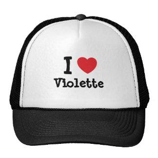Amo la camiseta del corazón de Violette Gorro
