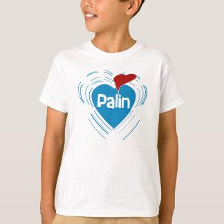 Amo la camiseta del niño de Sarah Palin