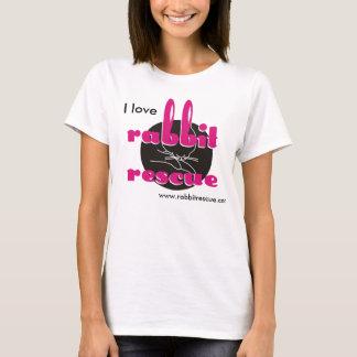 Amo la camiseta del rescate del conejo