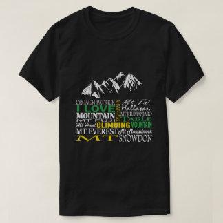 Amo la camiseta negra de la escalada