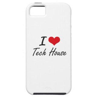 Amo la CASA de la TECNOLOGÍA iPhone 5 Case-Mate Fundas