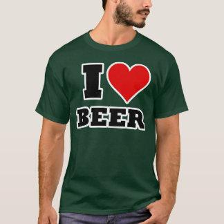 Amo la cerveza camiseta
