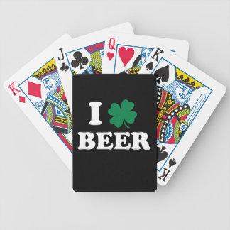 Amo la cerveza - el día de St Patrick del trébol Baraja De Cartas