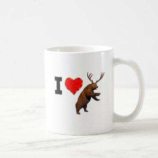 Amo la cerveza taza de café