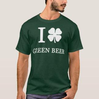 Amo la cerveza verde camiseta