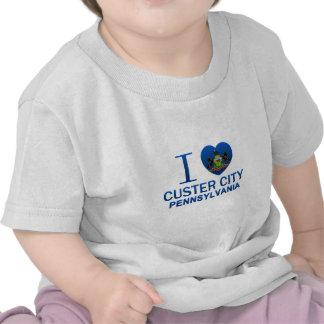 Amo la ciudad de Custer, PA Camiseta