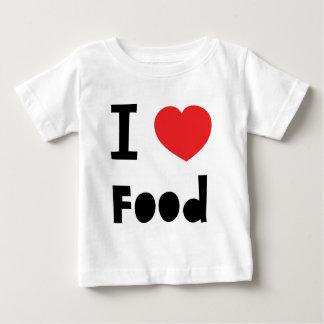 Amo la comida camiseta para bebé