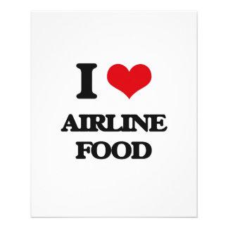 Amo la comida de la línea aérea folleto 11,4 x 14,2 cm
