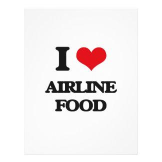 Amo la comida de la línea aérea folleto 21,6 x 28 cm