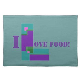 Amo la comida Placemat Mantel Individual