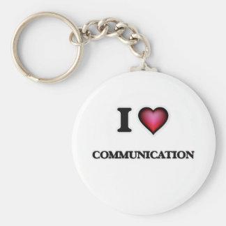 Amo la comunicación llavero