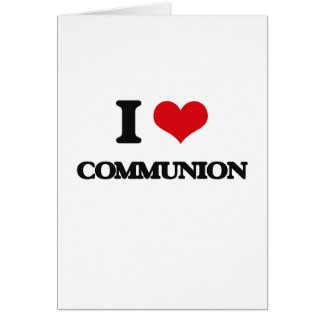 Amo la comunión tarjetón