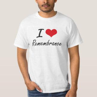 Amo la conmemoración camiseta
