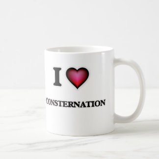 Amo la consternación taza de café