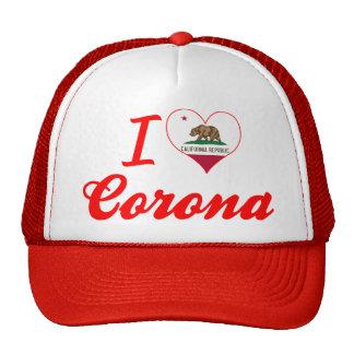 Amo la corona California Gorro