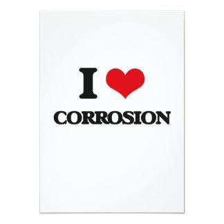 Amo la corrosión invitación 12,7 x 17,8 cm