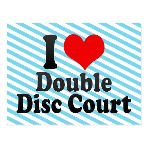 Amo la corte doble del disco postal