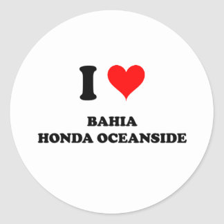 Amo la costa de Bahía Honda Etiquetas Redondas