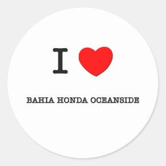 Amo la COSTA la Florida de BAHÍA HONDA Etiquetas Redondas