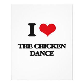 Amo la danza del pollo folleto 11,4 x 14,2 cm