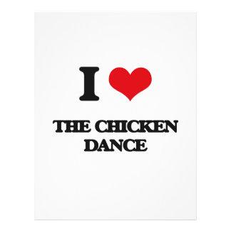 Amo la danza del pollo folleto 21,6 x 28 cm