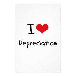 Amo la depreciación papelería