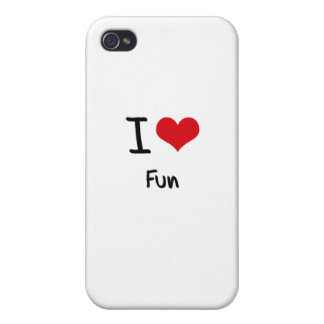 Amo la diversión iPhone 4 protectores