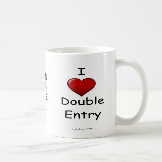 ¡Amo la entrada doble - añada su logotipo! Tazas