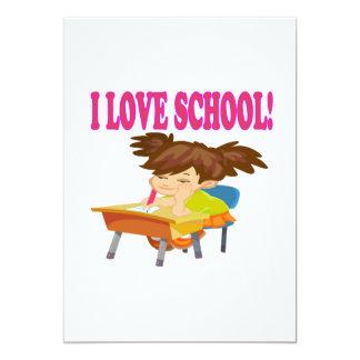 Amo la escuela invitación 12,7 x 17,8 cm