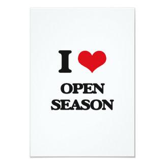Amo la estación abierta invitación 8,9 x 12,7 cm