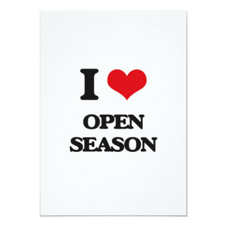 Amo la estación abierta invitación 12,7 x 17,8 cm