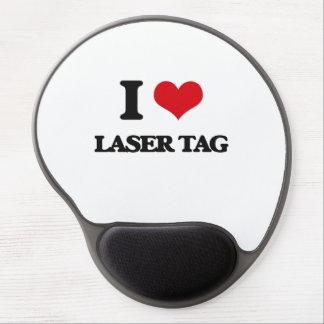 Amo la etiqueta del laser alfombrillas de raton con gel