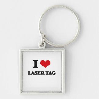 Amo la etiqueta del laser llavero personalizado