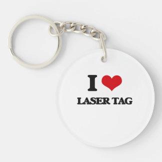 Amo la etiqueta del laser llavero