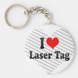 Amo la etiqueta del laser llavero redondo tipo chapa