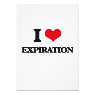 Amo la EXPIRACIÓN Invitación 12,7 X 17,8 Cm