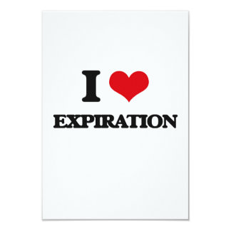 Amo la EXPIRACIÓN Invitación 8,9 X 12,7 Cm