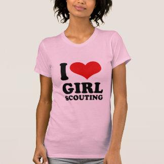 Amo la exploración del chica camiseta