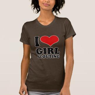 Amo la exploración del chica camisetas