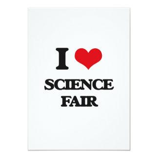 Amo la feria de ciencia invitación 12,7 x 17,8 cm